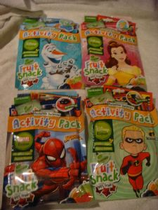 activity packs for boys & girls Spiderman, Frozen, incredibles, Disney Princess .